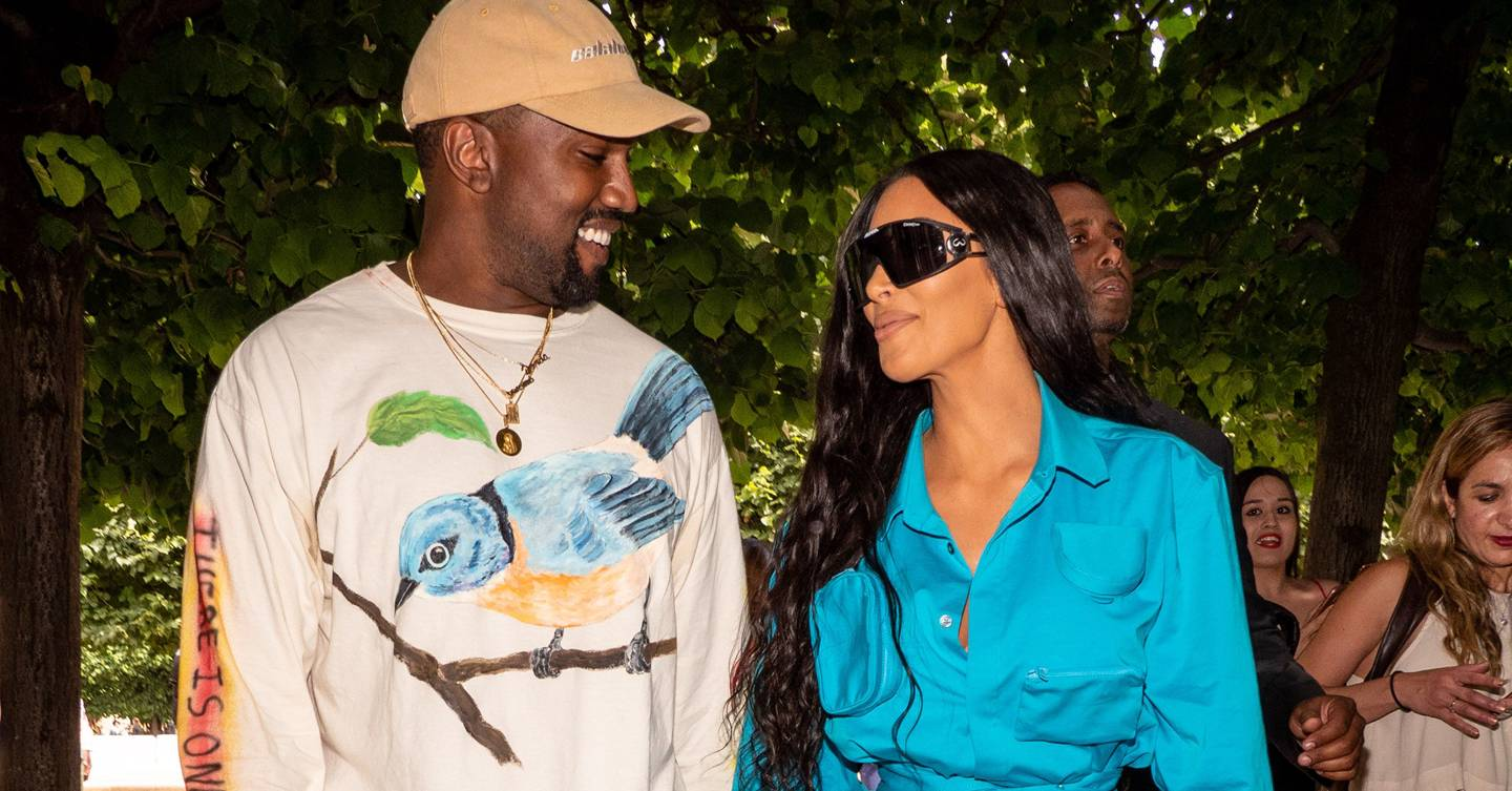 Kanye West decked out his Axel Vervoordt–designed living room for Kim Kardashian's birthday
