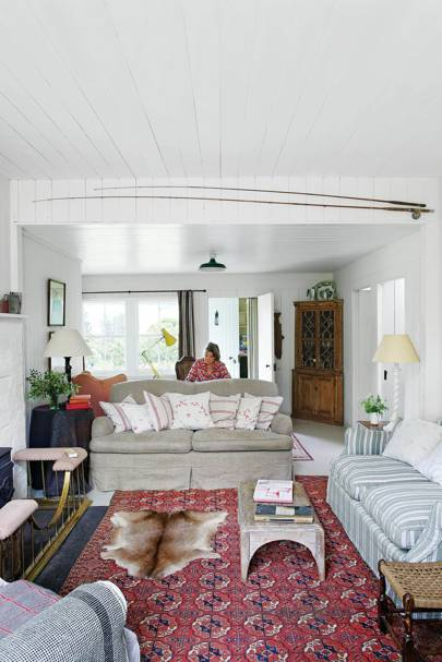 Small White Cottage living Room