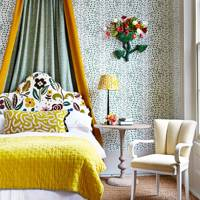 Modern Yellow Canopy Bed