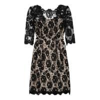 Floral-Print Lace Dress