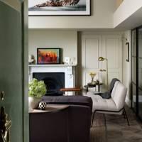 Modern Mezzanine Living Room