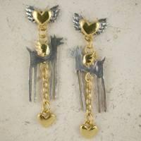 Winged Wolf Earrings