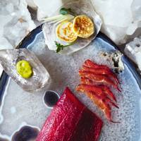Beetroot Cured Sea Trout With Blinis & Dill Sauce