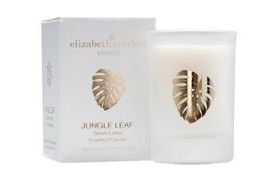 July 26: Elizabeth Scarlett Jungle Leaf Green Lotus Mini Candle, £12