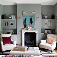 Duck Egg Blue Living Room