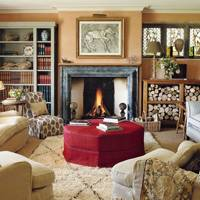 Living Room with Log Storage