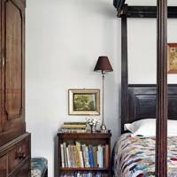 Country bedroom with four poster