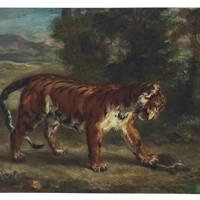 EUGÈNE DELACROIX (1798–1863) Tigre jouant avec une tortue