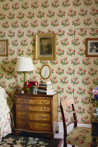 Small Chintz Bedroom | Traditional Bedroom design ideas