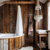 Rustic Wooden Bathroom