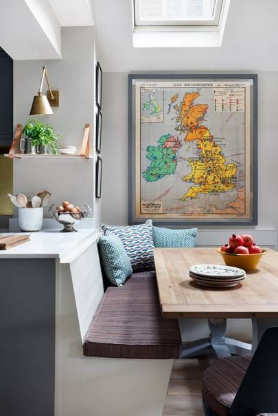 Banquette Seating - At Home: Nicole Salvesen London Family Home | Real Homes