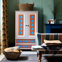Decorative Painted Wardrobe