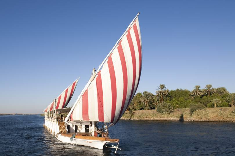 A Nile cruise on an elegant traditional sailing boat