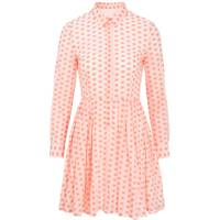Fluoro Spotted Shirt Dress
