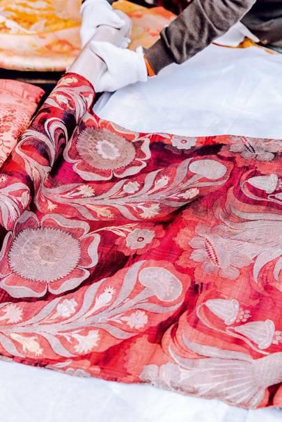 Seventeenth century silk