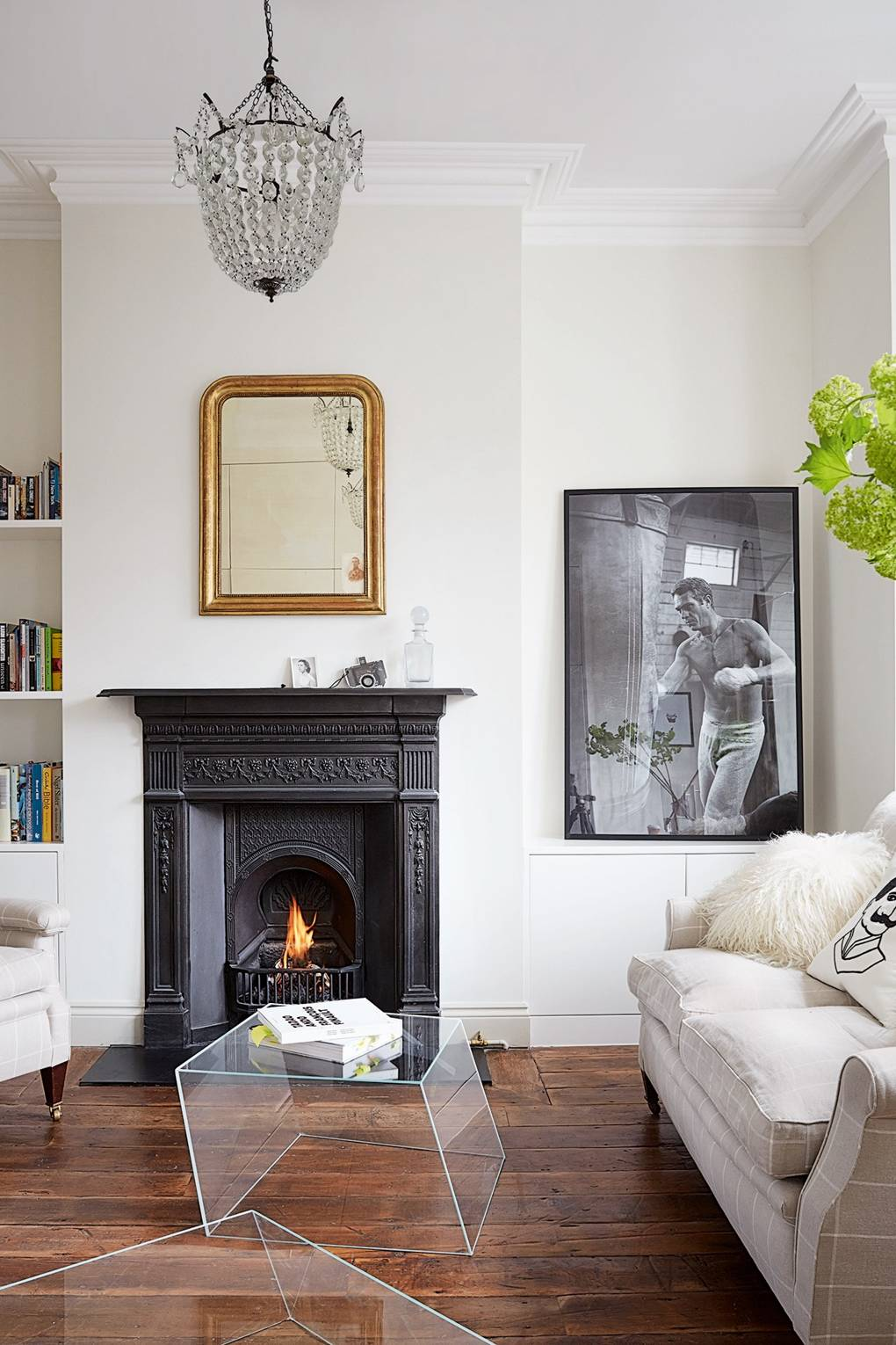 Victorian and Edwardian Chimneypiece  Living Room Design ideas