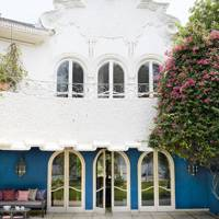 French Windows in Garden - Colours of India
