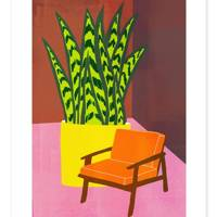 Etsy Orange Chair Print