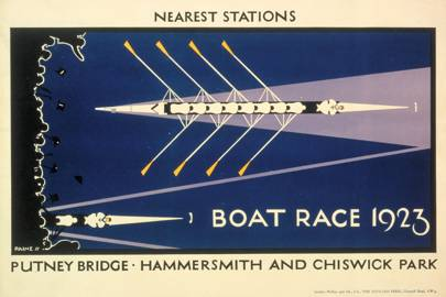 Boat Race Poster, by Charles Paine, 1923