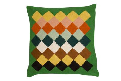 'Green Salim', by Lindell & Co, wool mix, 40cm square, £175, from Pentreath & Hall