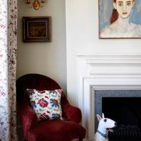 Main Bedroom Fireplace - English Garden Square House