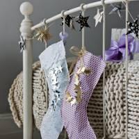 Paper Stockings in Christmas Bedroom