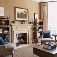 Drawing room stone chimneypiece