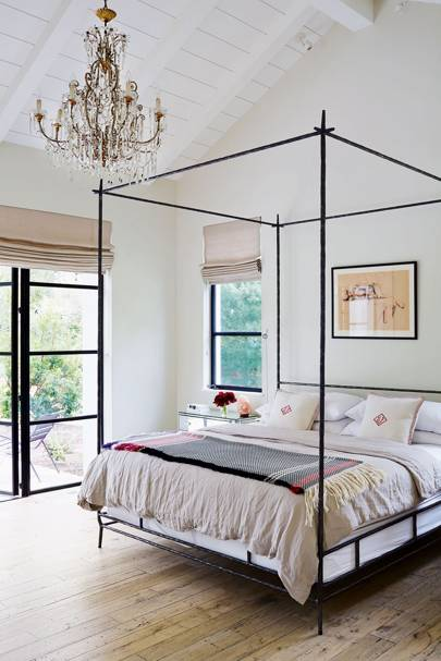 Modern Bedroom with Metal Four Poster