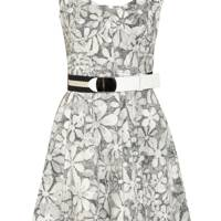 Printed Cotton-Blend Dress
