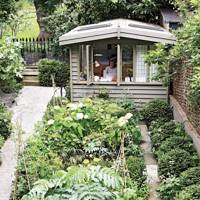 Vegetable Garden with Shed Office