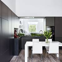 Modern Flat L-Shaped Kitchen Dining Room