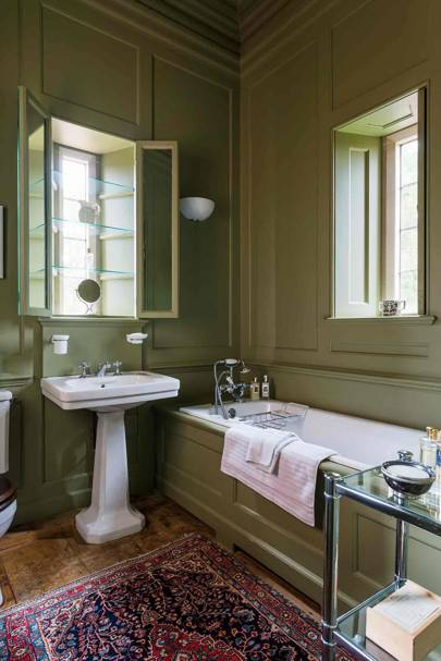 Panelled Bathroom - Newbuild Jacobean-style Manor