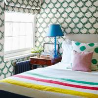 Patterned Wallpaper & Blind