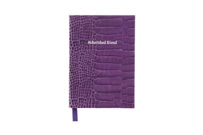 August 29: #cherishedfriend notebook in Amethyst Croc, £28