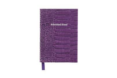 August 29: #cherishedfriend notebook in Amethyst Croc, £28