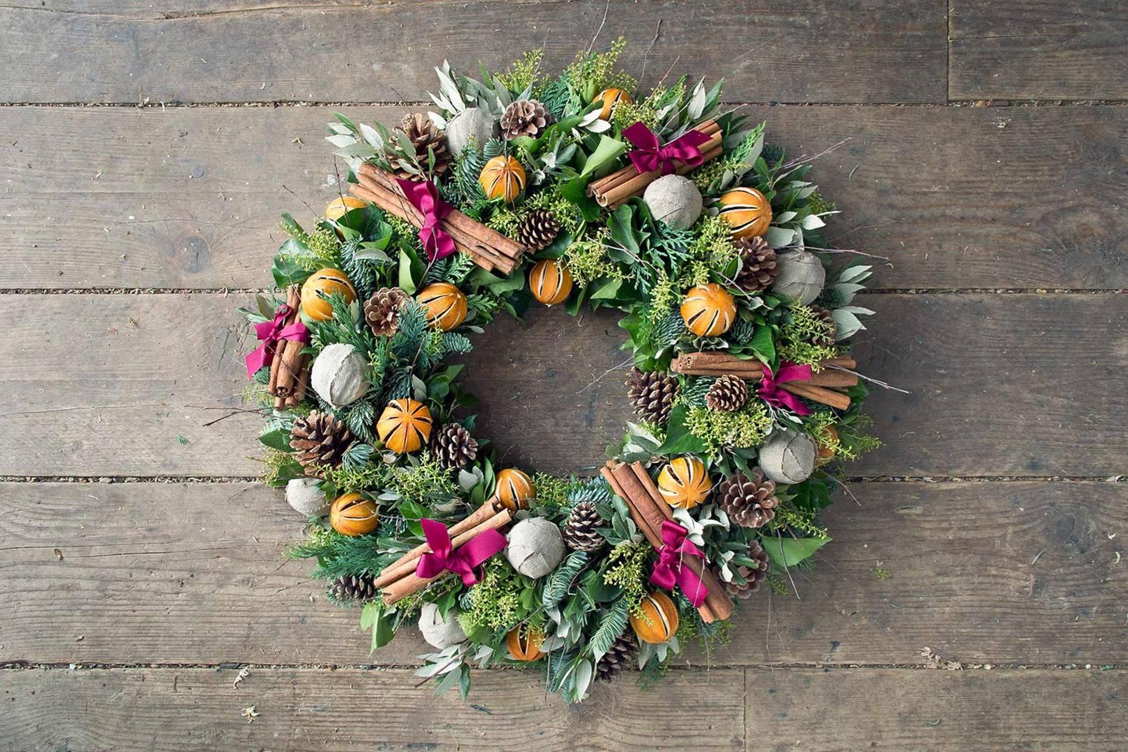 how to make a christmas wreath house garden