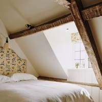 Attic Bedroom - Restored Georgian House in Somerset