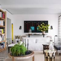 Sitting Room Bookcases - At Home: Calm Brooklyn Apartment | Real Homes