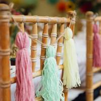 Wool Tassel Chair Decoration