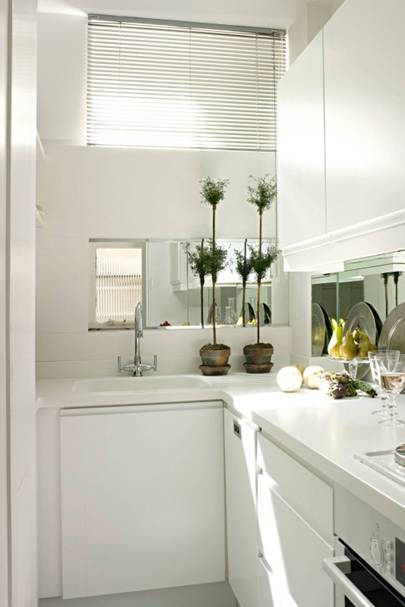 Ikea Mirror Splashback Small Kitchen Design Ideas House