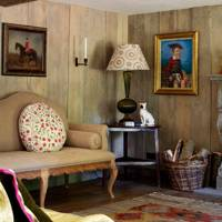 Wood Panelled Cottage Living Room