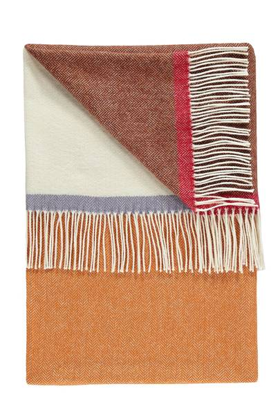 Jessie Ginger Lambswool Throw