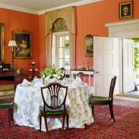 Red Dining Room Colour Scheme