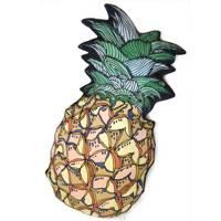 Pineapple silk shaped cushion