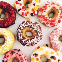 Raw New Year doughnuts