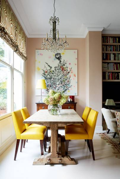 Yellow Leather Dining Room Chairs
