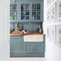 Bespoke Green Cupboards & Butler Sink