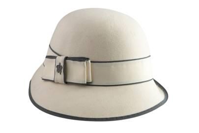 White Cloche Hat