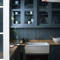 Dark Blue Kitchen by Plain English