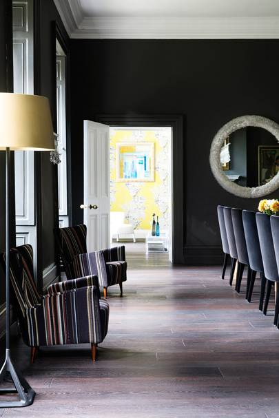 Striped Armchairs - Somerset Country House